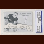 "Howie Morenz & Irvine ""Ace"" Bailey Autographed Card - The Broderick Collection - Deceased"