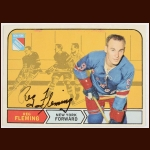 1968-69 Reg Fleming New York Rangers Autographed Card – Deceased