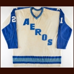 1972-73 Don Grierson WHA Houston Aeros Game Worn Jersey - Inaugural Season