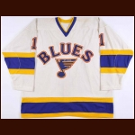 1984-85 Mike Liut St. Louis Blues Game Worn Jersey