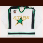 "1991-92 Marc Bureau Dallas Stars Game Worn Jersey – ""25-year Anniversary"""