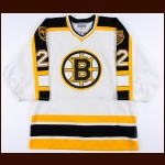 1996-97 Rick Tocchet Boston Bruins Game Worn Jersey - Photo Match