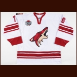 "2006-07 Travis Roche Phoenix Coyotes Game Worn Jersey – ""Decade in the Desert"" - Photo Match – Team Letter"