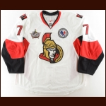 "2011-12 David Rundblad Ottawa Senators Game Worn Jersey – Rookie – ""2011 Hall of Fame Game"" – ""2012 Ottawa All Star"" – Team Letter"