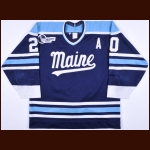 Mid 1990's Brad Purdie University of Maine Game Worn Jersey