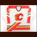 "1994-95 Frank Musil Calgary Flames Game Worn Jersey – ""15-year Anniversary"" – Team Letter"