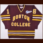1984-85 Boston College Game Worn Jersey – Player #16 - H-East Inaugural Season