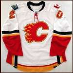 2007-08 Kristian Huselius Flames Game Worn Jersey - Team Letter