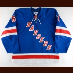2015-16 Rick Nash New York Rangers Game Worn Jersey – Team Letter