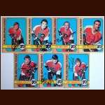 1972-73 Autographed Philadelphia Flyers Card Group of 7