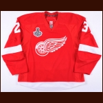 "2008-09 Brad Stuart Detroit Red Wings Stanley Cup Finals Game Worn Jersey – ""2009 Stanley Cup Finals"" - Photo Match - Team Letter"