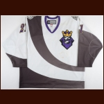 2013-14 Andrew Crescenzi Manchester Monarchs Game Worn Jersey - Burger King Alternate - Photo Match – Team Letter