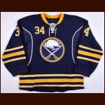 2010-11 Chris Butler Buffalo Sabres Game Worn Jersey – Team Letter