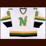 1988-89 Frank Musil Minnesota North Stars Game Worn Jersey