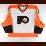 2014-15 Brandon Alderson Philadelphia Flyers Pre-Season Game Worn Jersey – Team Letter