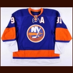 "2010-11 John Tavares New York Islanders Game Worn Jersey - First Career ""A"" - Photo Match - Team Letter"
