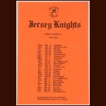 1973-74 WHA New Jersey Knights Home Schedule
