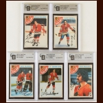 Lot of (5) 1978-79 OPC Chicago Blackhawks Autographed Cards – GAI Certified