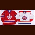 St. James Canadians Game Worn Jerseys – 1980's Player #7 Red & 1990's Player #12 White