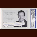 Seymour Knox III Autographed Card - The Broderick Collection - Deceased