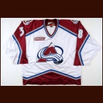 1999-00 Dave Andreychuk Colorado Avalanche Game Worn Jersey – Team Letter