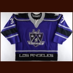 2003-04 Kip Brennan Los Angeles Kings Game Worn Jersey – Alternate – Team Letter