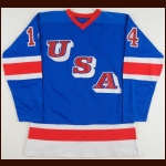 1980 Ralph Cox Team USA Pre-Olympic Game Worn Jersey