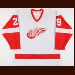 1986-87 Randy Ladouceur Detroit Red Wings Game Worn Jersey