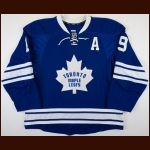 2014-15 Joffrey Lupul Toronto Maple Leafs Game Worn Jersey – Alternate - Photo Match – Team Letter