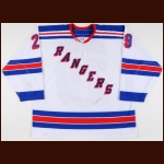 2003-04 Boris Mironov New York Rangers Game Worn Jersey