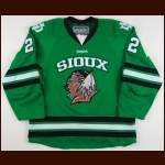 2010-11 Brad Malone University of North Dakota Game Worn Jersey – Team Letter