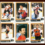 1986-87 Topp & OPC Philadelphia Flyers Autographed Card Group of 27 – Peter Zezel & Brad McCrimmon (Deceased)