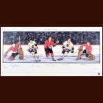 Chicago Blackhawks Limited Edition Lithograph - Autographed By 5 Hall of Famers