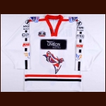 2008-09 David-Alexandre Beauregard Manchester Phoenix Game Worn Jersey – Elite League Letter
