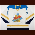1995-96 Jeff Dooks Moncton Alpines Game Worn Jersey - Inaugural Season