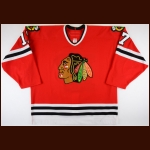 2005-06 Michael Holmqvist Chicago Blackhawks Game Worn Jersey – Team Letter