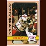 1972-73 Topps #130 Jean Ratelle Rangers AS - Autographed