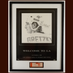 "Wayne Gretzky Los Angeles Kings ""Welcome to LA"" Autographed Matted & Framed Display with Ticket Stub – Limited Edition of 500 – Upper Deck COA"