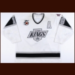 "1991-92 Larry Robinson Los Angeles Kings Game Worn Jersey – ""25-year Anniversary"