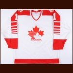 1983 Rick Wamsley Team Canada World Championships Game Worn Jersey – Photo Match - The Rick Wamsley Collection – Rick Wamsley Letter