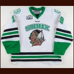 "2010-11 Evan Trupp University of North Dakota Game Worn Jersey – ""2011 Saint Paul Frozen Four"" - Last College Jersey - Photo Match – Team Letter"
