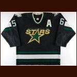 1998-99 Sergei Zubov Dallas Stars Game Worn Jersey - Stanley Cup Season - All Star Season - Photo Match – Team Letter