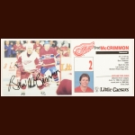 Brad McCrimmon Detroit Red Wings Autographed Little Ceasars' Postcard – Deceased