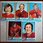 1974-75 OPC Autographed Red Wings group of 5