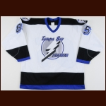 1993-94 Petr Klima Tampa Bay Lightning Game Worn Jersey