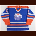 1984-85 Randy Gregg Edmonton Oilers Game Worn Jersey - Stanley Cup Season - Photo Match – Team Letter
