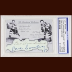 Bill Quackenbush & Bill Cowley Autographed Card - The Broderick Collection - Deceased