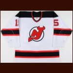 2003-04 Jamie Langenbrunner New Jersey Devils Game Worn Jersey - Photo Match
