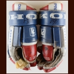 Al Iafrate Washington Capitals Red, White & Blue Koho Gloves Autographed