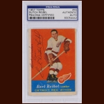 "Earl ""Dutch"" Reibel 1957 Topps – Detroit Red Wings – Autographed – PSA/DNA"